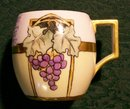 Art Nouveau Grape Mug Set- Bavarian China