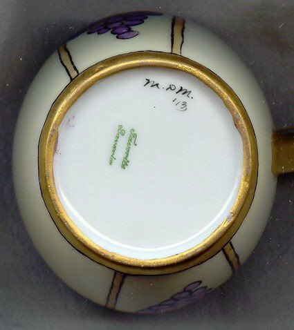 Art Nouveau Grape Mug Set- Bavarian China