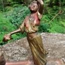 Bergmann Vienna Bronze Scupture Arab Veil Dancer on Carpet Late 1800s 4.5
