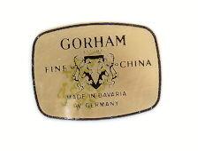 Gorham Cobalt Columbine W. German China Set- Mint w/Box Ca. 1978