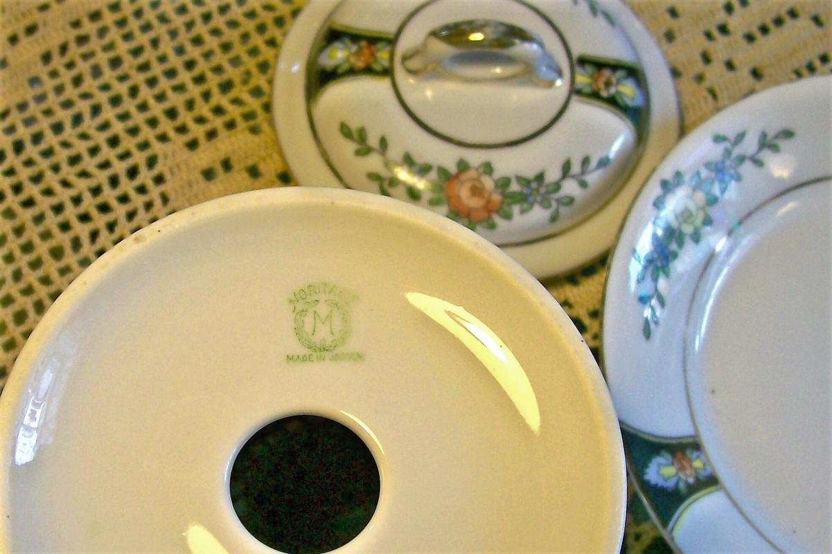 Noritake Ceramic Condensed Milk Jar w/Lid & Liner