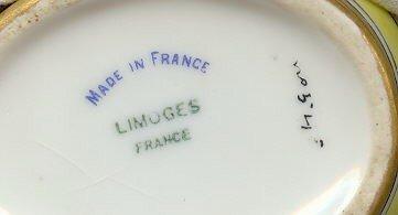 Art Deco Limoges Porcelain Teapot Orange Floral 5.5