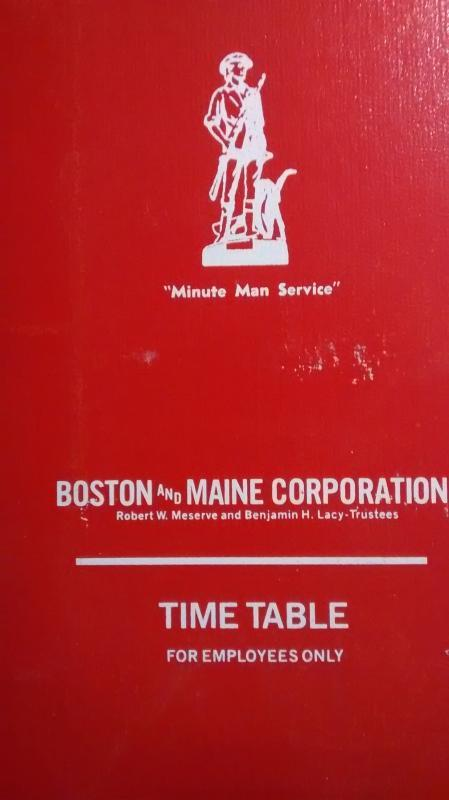 Boston & Maine Railroad Time Table 1978-80s w/Supplements