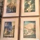 Illinois Central Railroad Promo Prints New Orleans Mettel Set/4