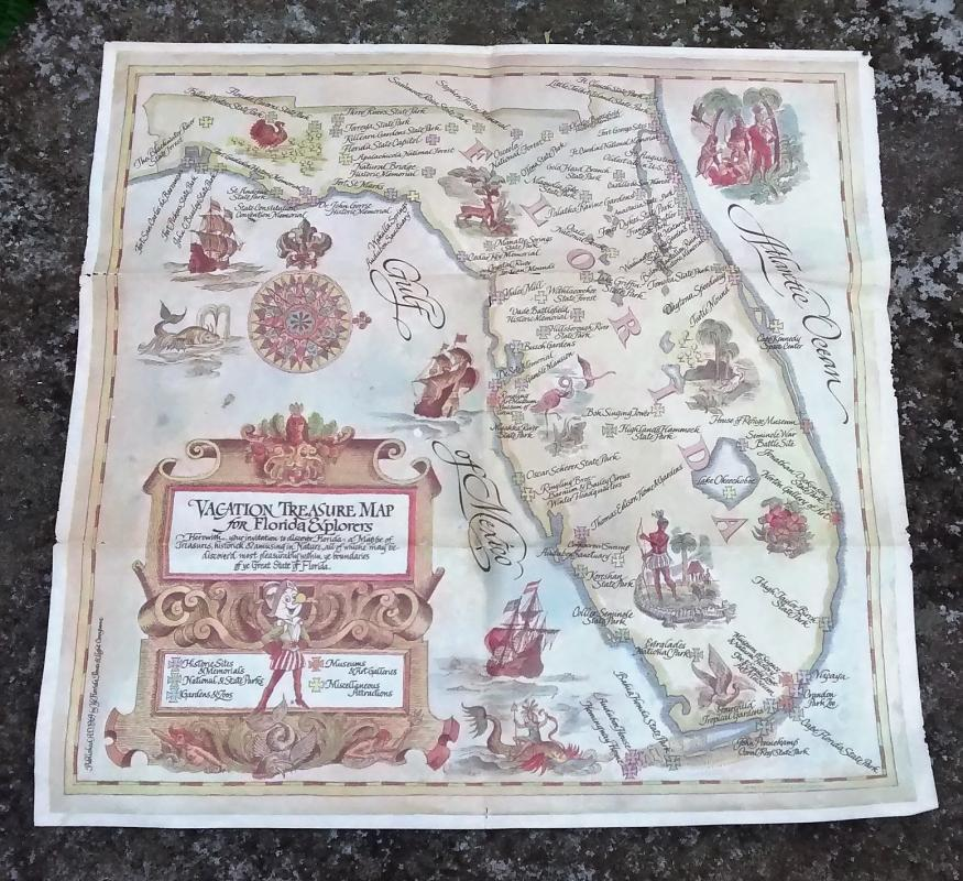Reddy Kilowatt/Florida Power Treasure Map 1969