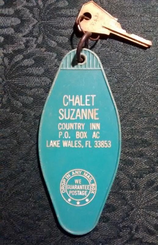 Vintage Chalet Suzanne Inn Key Tag Lake Wales Florida