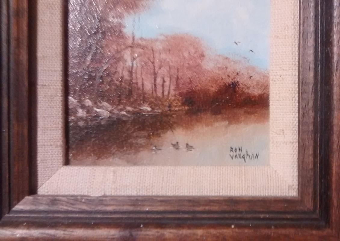 Ron Vaughan Mini Oil Painting