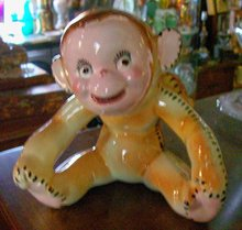 Monkey Planter: Circa 1950's