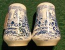 Wedgwood Countryside Ceramic Salt & Pepper Shakers Blue & White Pictorial 1966-68