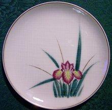 Kutani Japan Ceramic Plate Set with Irises 7.25