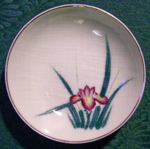 Kutani Japan Ceramic Bowls with Irises 5.25