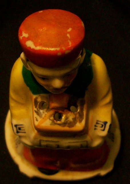 Occupied Japan Figural Chinese Mandarin Ceramic Incense Burner