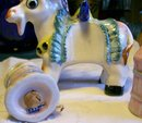 Donkey Figural Salt & Pepper Shaker Carrier: 1950's