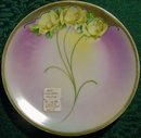 Bavarian Art Nouveau Plate with Handpainted Gold