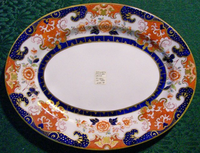 Ashworth English Ironstone Platter Imari-style Ca. 1880