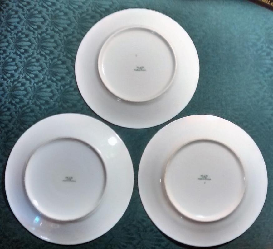 Marks & Rosenfeld Fruit Plate Set/3 Smooth Coupe 8