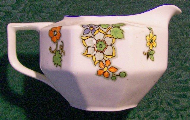 Zeh Scherzer & Co. Ceramic Creamer #6996/9669/9666 Art Deco Floral 1930's