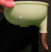 Green Clambroth / Jade-ite Top Bowl for Electric Mixer Juice Reamer