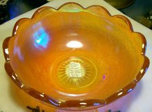 Carnival Glass Scalloped Bowl:  Imperial