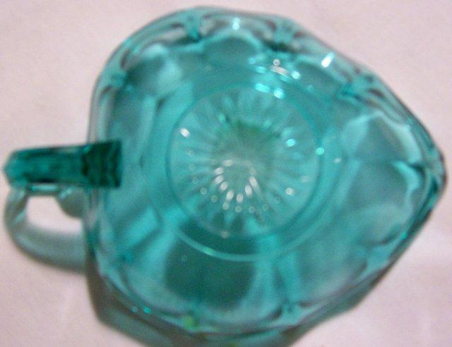Westmoreland Glass Colonial 1776 Bon Bon Laurel Green 1950's