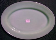 Hocking Fire-King Jade-ite Green Glass Restaurant Ware Platter