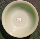 Hocking Fire-King Jade-ite Green Jane Ray Glass Bowl