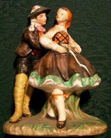 Tyrolean Dancers Figurine by Hermonn: Napco 1961