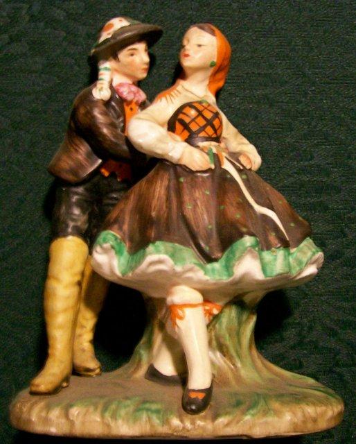 Tyrolean Dancers Ceramic Figurine Hermonn Napco 1961 #A5270A