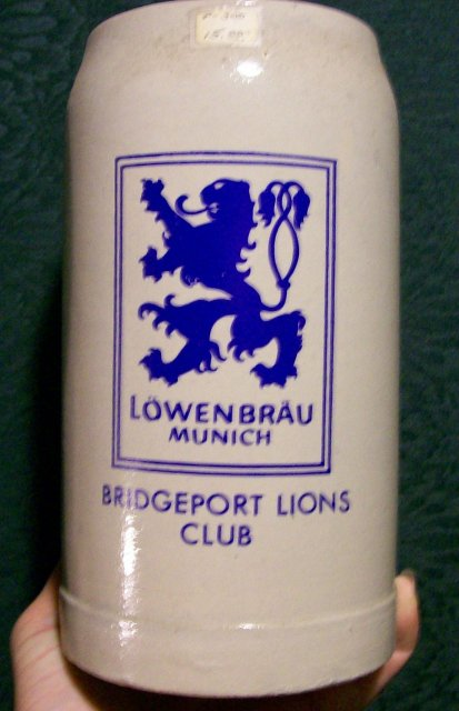 Lowenbrau, Munich Beer Mug: Bridgeport Lions Club