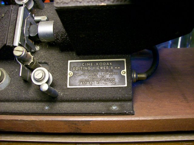 Cine-Kodak Senior Editor for 8mm Film & Splicer 1940's