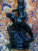 Black Panther on Tree Ceramic Lamp: 1940's