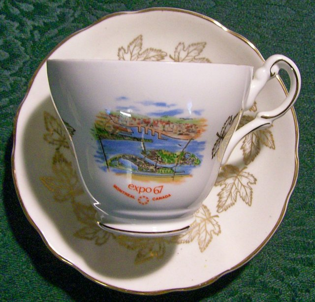 EXPO 67 Souvenir Bone China Cup Only Montreal Canada Royal Darwood