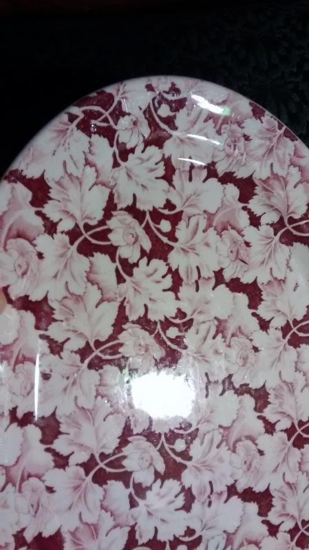 Mayer Arbor / King Pin Platter 40s-60s Restaurant China Red/White 12.5