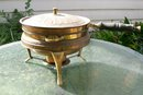 Persepolis Brass Chafing Dish with Stand Middle Eastern