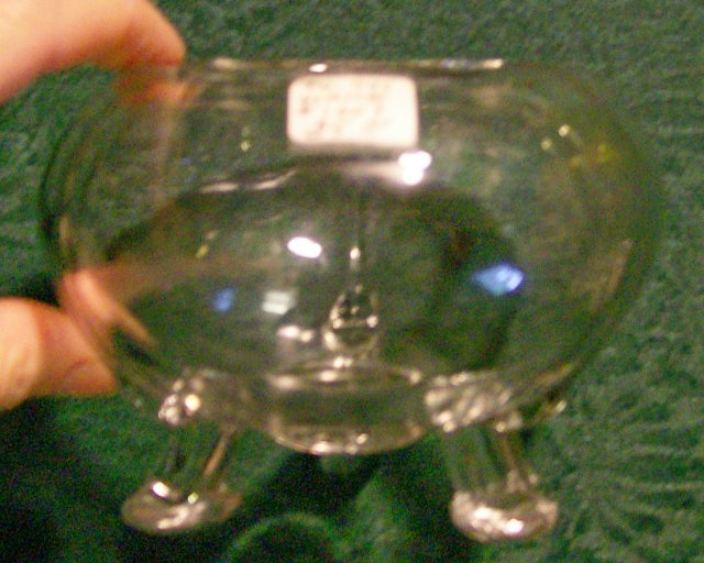 Viking Flora-lite Glass Flower Bowl: Clear: 1950's-70's #1007