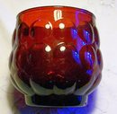 A. Hocking Bubble/Provincial Glass Tumbler Ruby Red 3