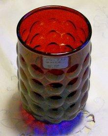 A. Hocking Royal Ruby Bubble Glass Tumbler Set/4 3.75