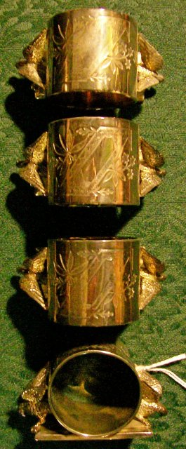 Meriden Silverplate Figural Napkin Ring Set of 4