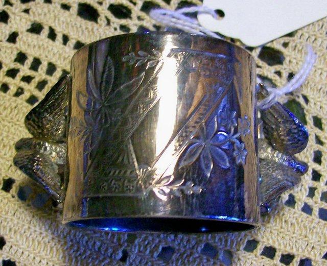 Meriden Silverplate Figural Napkin Ring Set of 4