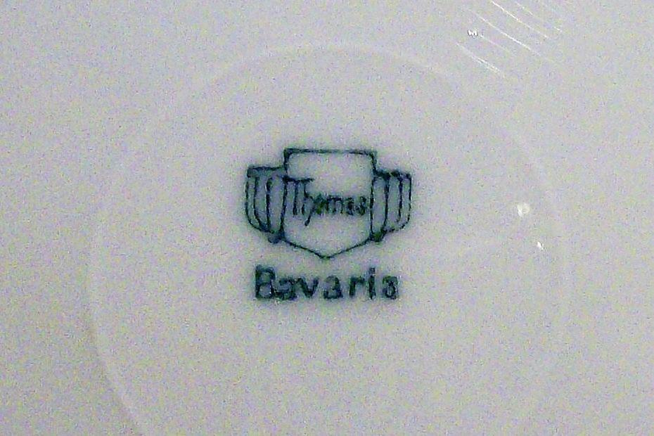 Bavarian Plate Set/4 Hand-Painted Roses & Luster 6