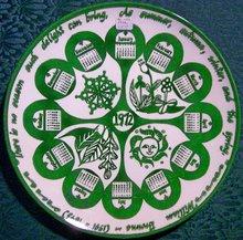 1972 Calendar Plate Mount Clemens China William Browne 10.5