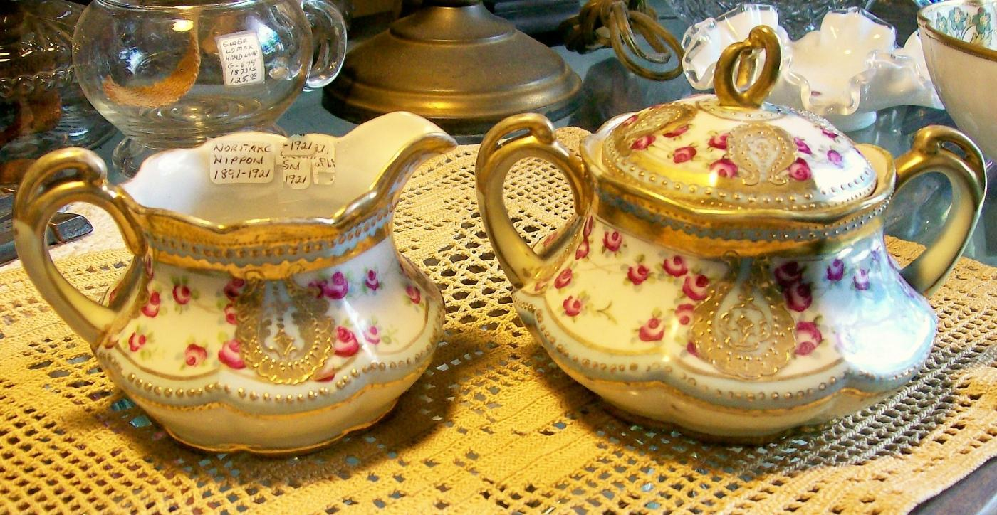Noritake Nippon Gold Encrusted Cream & Sugar Set
