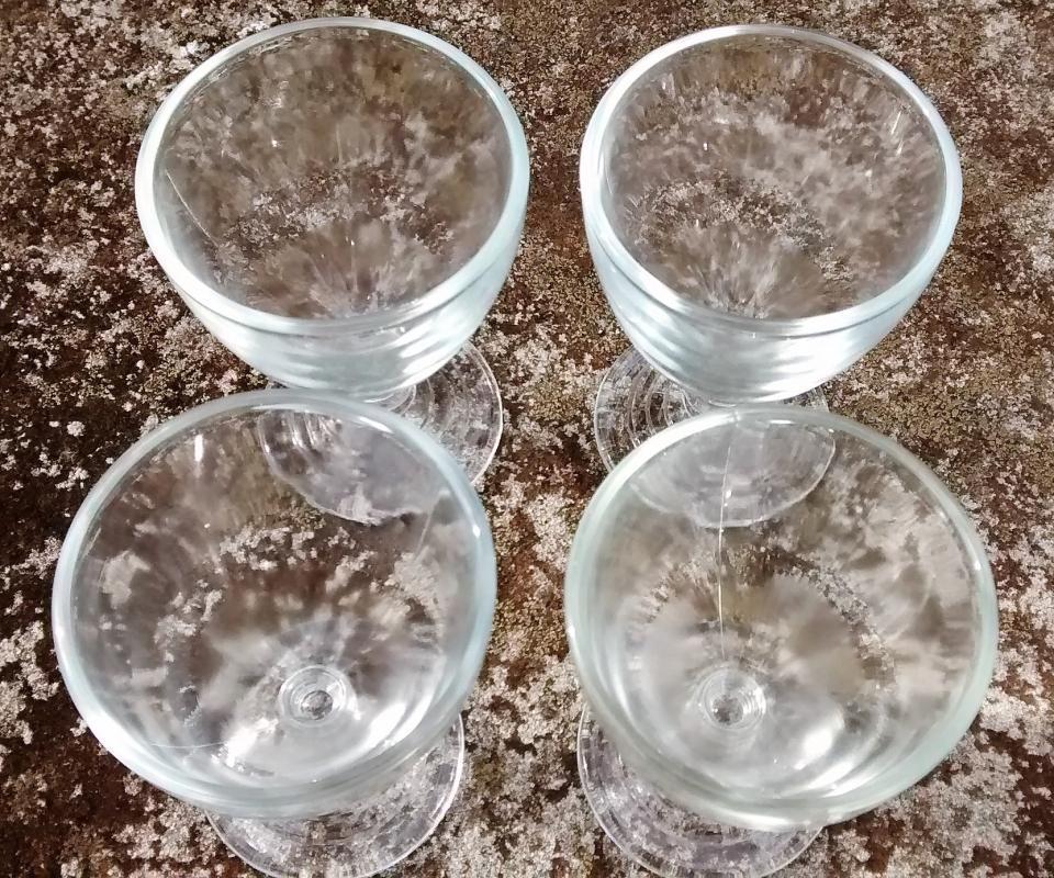 Hazel Atlas No. 110 Wine Glass Set/4 1930s Clear 3 1/8