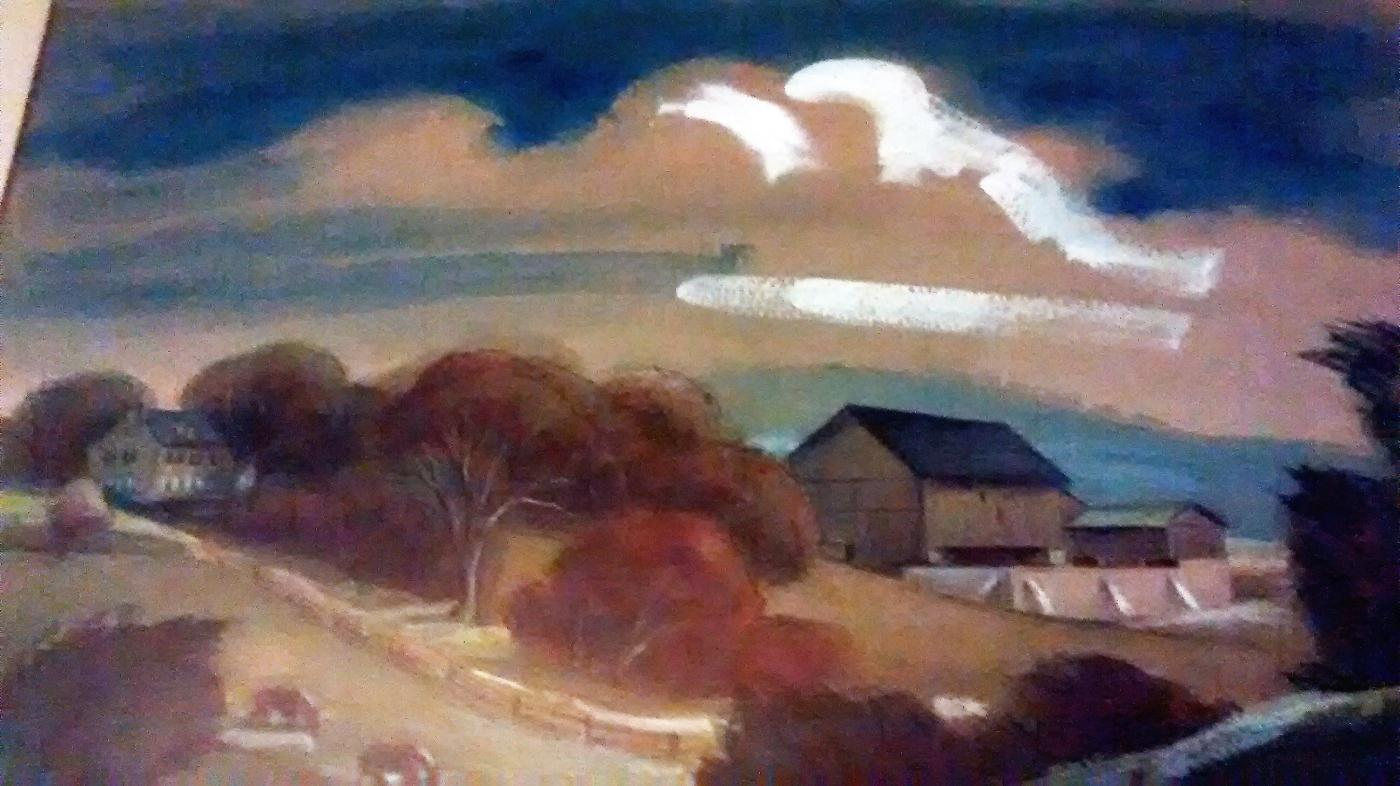 Lois Ireland Farm Scene Painting 30