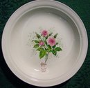 Hall China Heather Rose Ceramic Soup Bowl 8