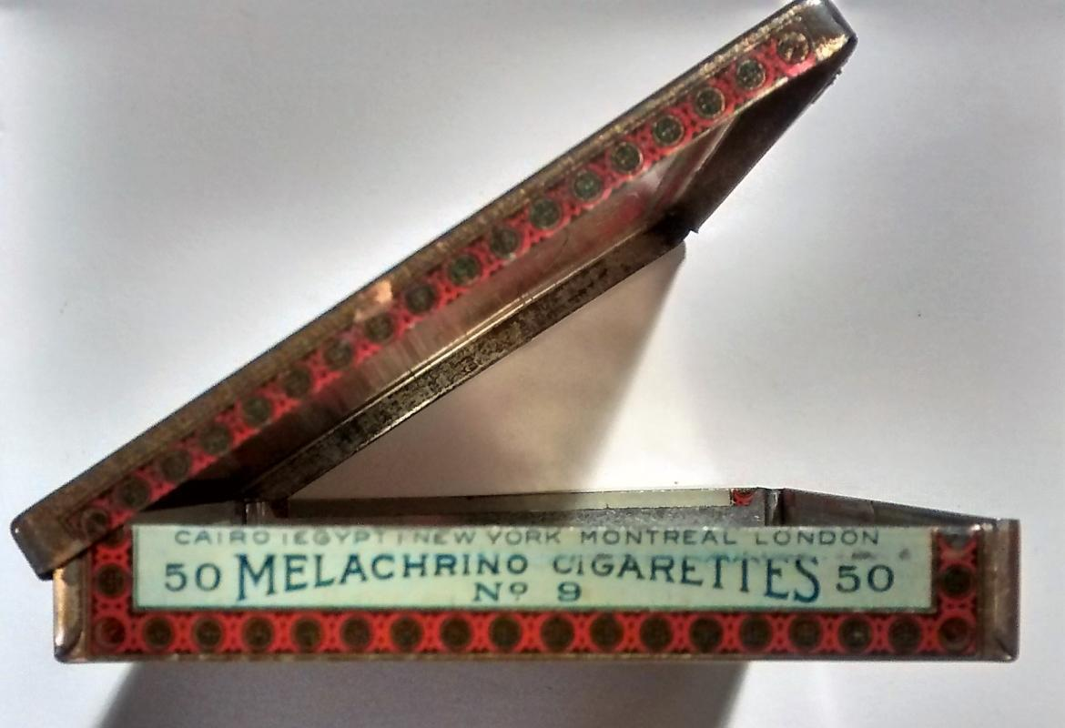 Melachrino Egyptian Cigarette Tin No. 9 1920s