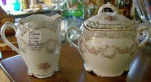 Zeh Scherzer & Co. Bavarian Porcelain Cream & Sugar