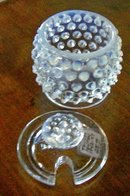 Fenton French Opalescent Hobnail Mustard with Lid