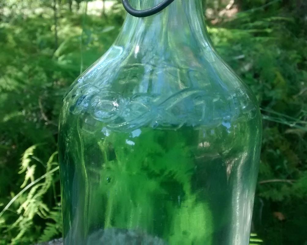 Moxie Soda Advertising Bottle Early 1900s Porcelain Stopper 11.25