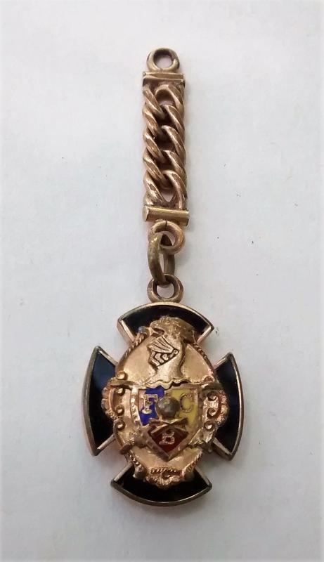 Knights of Pythias Watch Fob Ornament Ca. 1896